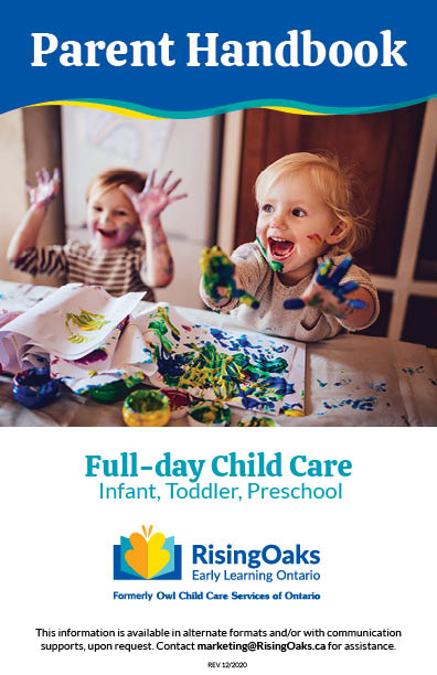 Handbook cover for Infant, Toddler and preschool programs