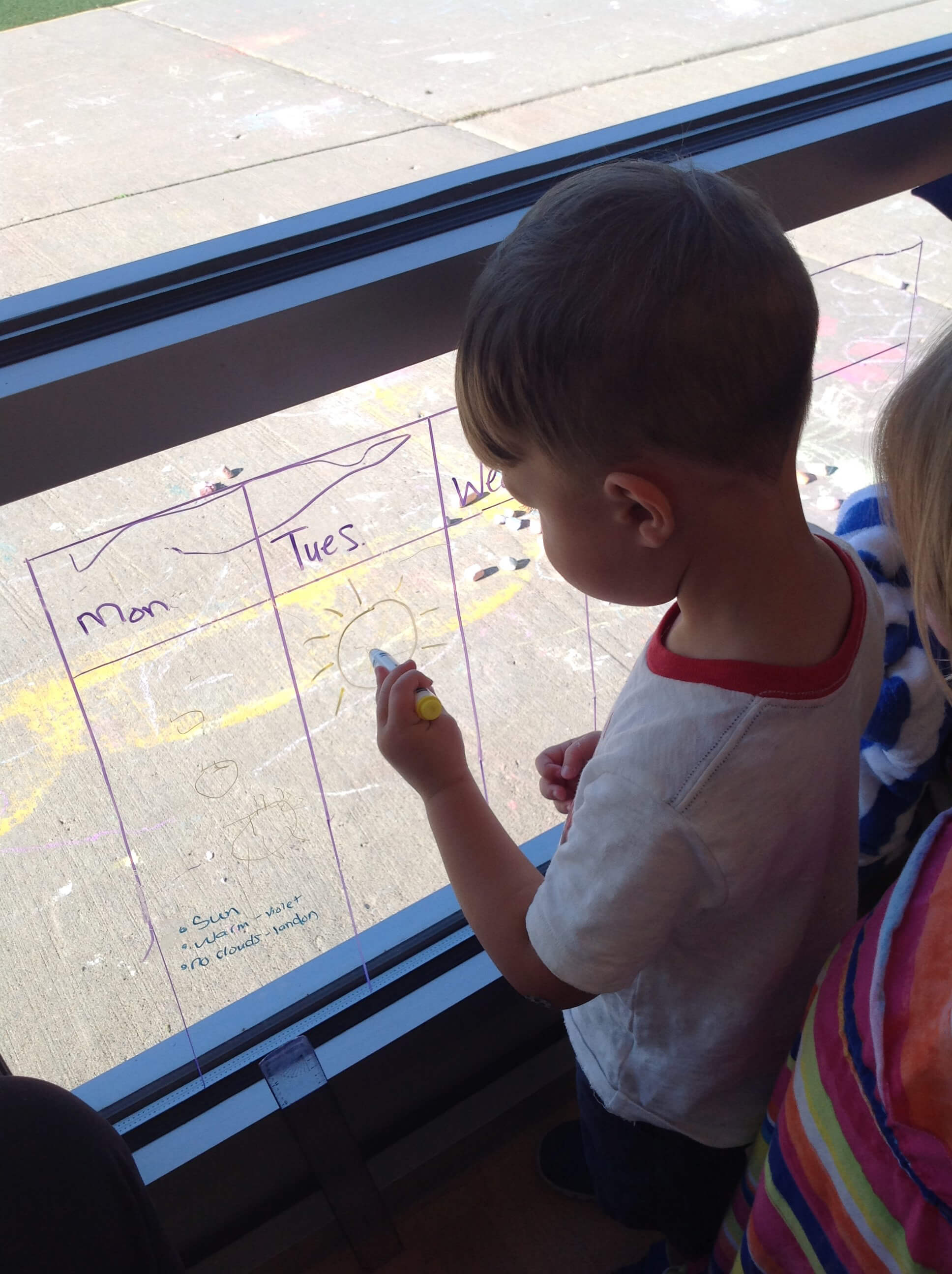 charting the weather on a window