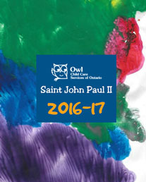 Owl-Saint John Paull II yearbook cover